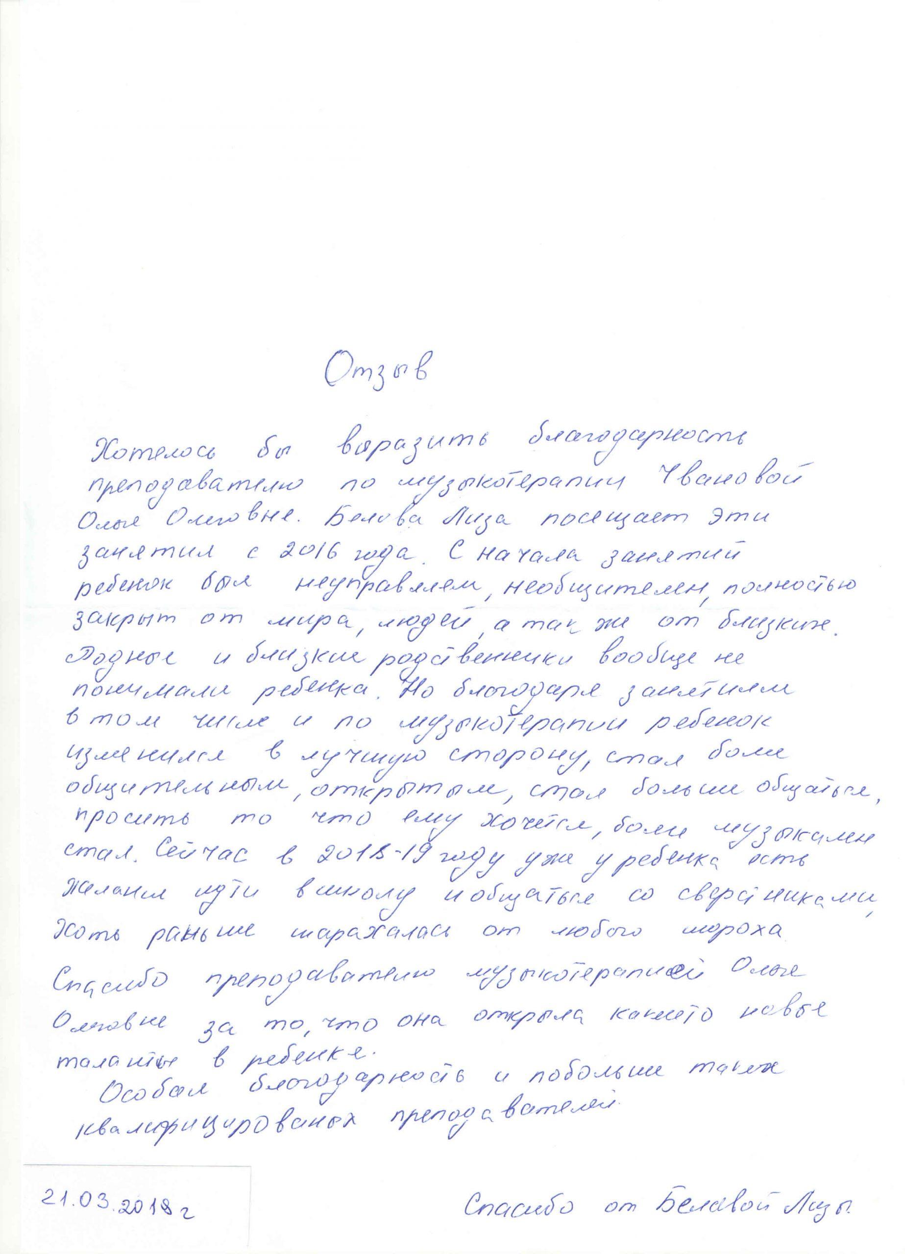 Чванова, 21.03.2019